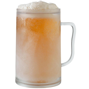 frosted beer in mug